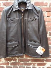 Schott Nyc Leather Cowhide 8058 Rare Jacket MADE IN USA Brown LARGE NEW WITH TAG