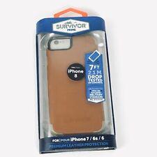 Survivor Prime for iPhone 8 Griffin Premium Brown Leather Phone Case C24-12