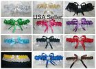 PICK FROM 12 COLOR CHOICES Satin Toss Garter Wedding, Prom, Anniversary