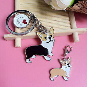 Corgi Dog Plush Toy Figure Animal Emulational Birthday Christmas Keychain S^qi