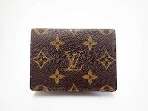 Authentic LOUIS VUITTON Monogram Card Case Holder Carte De Visite M62920 Browns