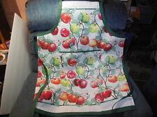Adult Apron - Apples: Macoun, Cortland, Jonathan. , adjustable strap, pocket
