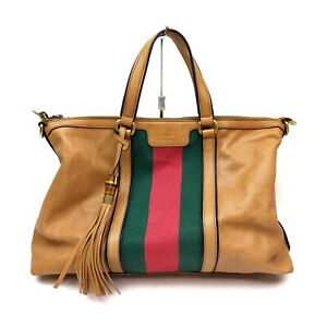 Gucci Hand Bag  Beiges Leather 1417641