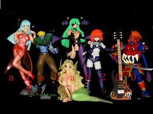 Street Fighter SNK Capcom Vampire Savior Darkstalkers Morrigan Gashapon Set (6)