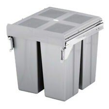 PULL OUT KITCHEN CABINET INTEGRATED RECYCLE WASTE BIN 500mm 68 LTR FRONT FIXING