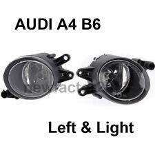 New Pair Front Bumper Driving Fog Light Lamp Set For 2002-2005 Audi A4 B6 Sedan