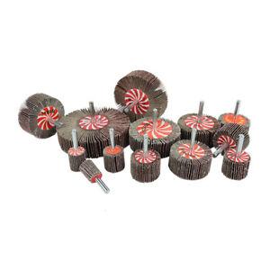 15 - 80mm Sanding Flap Wheel Disc Abrasive Grinding 6mm Shank For Drill Grit 80