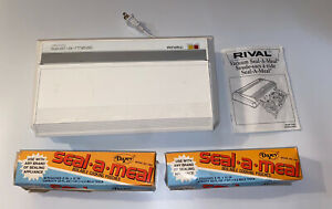 vintage RIVAL vacuum sealer seal-a-meal and 2 open boxes boilable cooking pouche