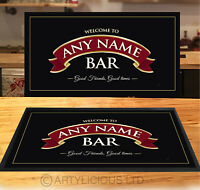 Personalised Welcome red ribbon Bar runner Beer mats Pubs & Clubs gift idea