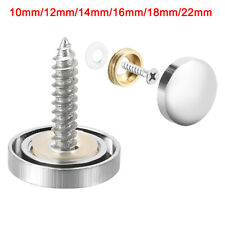 Mirror Screw, Decorative Cap Fasteners Cover Nails, Electroplated Brass