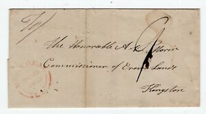 Canada QC Quebec - Montreal 1843 LC - Stampless Folded Cover to Kingston ONT -