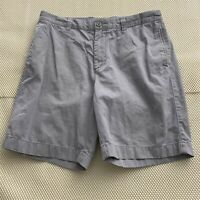 "J.Crew 34 x 9"" Light Blue Flat Front 100% Cotton Twill Chino Shorts"