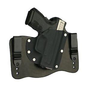 "FoxX Leather & Kydex IWB Hybrid Holster Springfield XD Mod 2 3.3"" .45 Black RH"