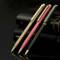 Luxury Classic Metal Ballpoint Pen 1mm Gel Pen Office Student Writing Stationery