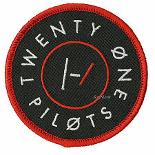 Authentic Licensed 21 Twenty One Pilots Blurryface Logo IRON ON Patch Badge NEW