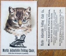 Cat 1890 Victorian Trade Card: Mark's Adjustable Folding Chair - Furniture
