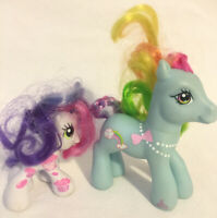 My Little Pony Rainbow Dash IV (4) 2007 & Sweetie Belle Twice As Fancy 2009 G3