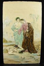 Max CLAUDET Dante & Virgile aux enfers la divine comédie 59-36cm 3,8kg 1888 hell