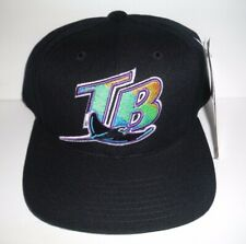 MLB Tampa Bay Devil Rays NEW Vintage Snapback Black Hat Cap American Needle NWT