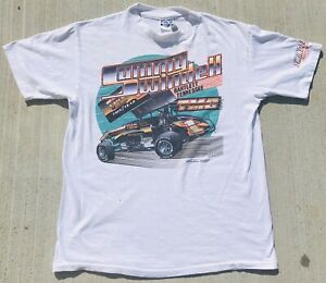Rare! Vintage 1988 Sammy Swindell TMC Trucking Sprint Car Tee - Medium