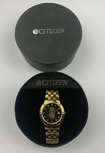 Citizen Our Lady of Guadeloupe Men's Gold Tone Watch / Wristwatch