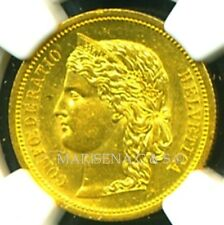 SWITZERLAND 1883 GOLD COIN 20 FRANCS * NGC CERTIFIED GENUINE MS 61 * GORGEOUS