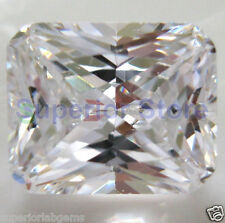 8.00 x 10.0 mm 3 ct OCTAGON Cut Sim Diamond, Lab Diamond WITH LIFETIME WARRANTY