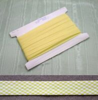Gingham Bias Binding Yellow - 25mm wide 5 mts