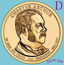 2012-D CHESTER ARTHUR GOLDEN PRESIDENTIAL DOLLAR UNCIRCULATED FROM MINT ROLL