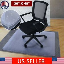 """36"""" x 48"""" PVC Protector Clear Chair Mat Home Office Rolling Chair Carpet w/Lip"""