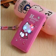 hello kitty 1800mAh Flip Dual SIM Card GPRS Breath Light touch screen Cell Phone