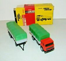 Vintage 1:43 Mini Buby #15 Camion Fiat 619N1 Truck Trailer Set Argentina In Box