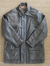 Marc New York Rich Brown Leather Coat Sz Large Very Soft Supple EUC!!!