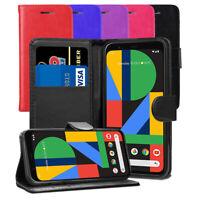 "For Google Pixel 4 5.7"" Case- Magnetic Leather Wallet Flip Case Book Folio Cover"