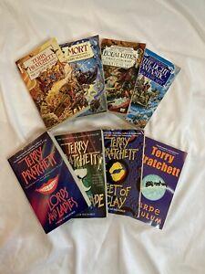 TERRY PRATCHETT Discworld Series Fantasy Fiction 8 Paperback Books Lot