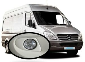 Round Day Running Lights DRL LED Mercedes Sprinter 2006 to 2013 to paint