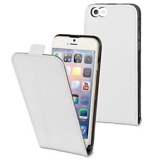 COQUE ETUI HOUSSE A  RABAT GAMME LUXE IPHONE 4/4S BLANC
