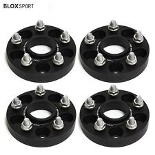 """4Pc 1"""" 25mm Black Anodized Aluminum Wheel Spacers 5x114.3 for Toyota or Lexus"""