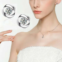 Hot Chic Fashion Plated silver Korea Style Beautiful Love Earings One Pair