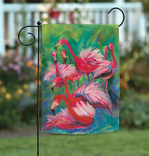 NEW Toland - Flamingo Fancy - Bright Colorful Pink Tropical Bird Garden Flag