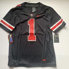 Nike (Stitched) Ohio State Buckeyes #1 Blackout Limited Jersey (Fields) Size M