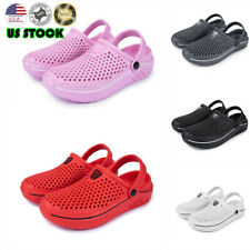 Summer Women Men Hole Sandals Beach Shoes Hollow out Breathable Garden Slippers
