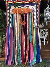 "Shabby Handmade Gypsy Boho Hippie Valance Rag Curtain Window,Wall, 72"" By 40"""