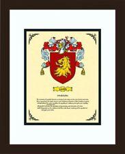 HERALDRY COAT OF ARMS ~ MARIN FAMILY CREST ~ FRAMED