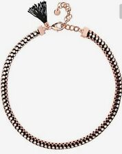 💖 Mimco Brand New Victorious Rose Gold Black Choker Necklace + Dust Bag