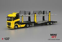 Mini GT 1:64 Mercedes-Benz Actros Cars Transporter Die Cast Limited MGT00137-L