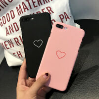 Love Heart Thin Hard Matte Couple Phone Case Cover For 11 X XR XS Max Plus 8 7 6