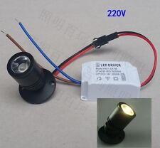 50er LED Einbaustrahler Minispot Einbauleuchte Mini Einbau Set 1W Warmweiß 230v