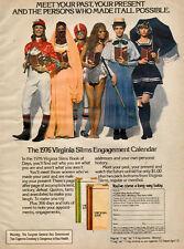 1976 vintage tobacco AD VIRGINIA SLIMS Cigarettes Engagement Calendar  061516