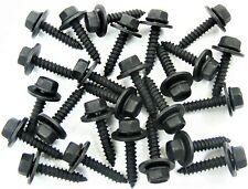 Mopar Black Trim Screws- M4.2 x 20mm Long- 7mm Hex- 12mm Washer- 25 screws- #229